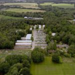 Aerial view of Pinewood site