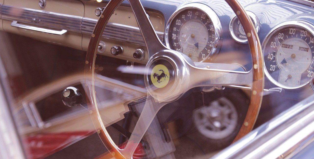 Image of Classic Car Ferrari Interior
