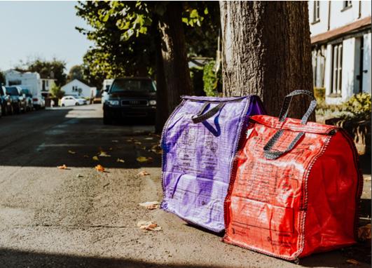 Sealable recycling sacks