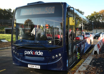 A park and ride bus
