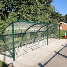 Cycle shelter at Pinewood