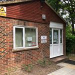 External photo of the parish office at the Pinewood Centre