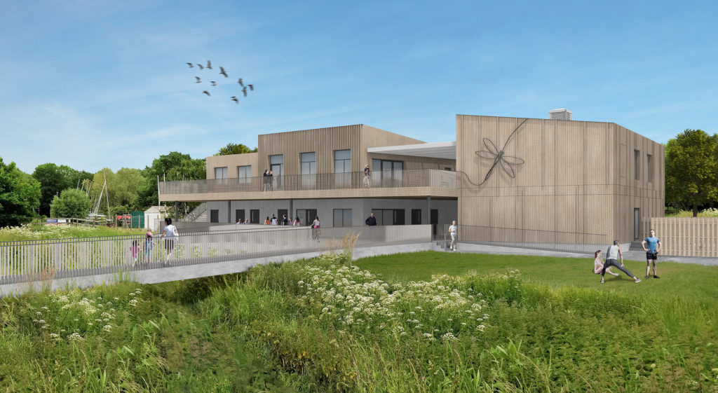 computer generated image of a new building planned for Dinton Country Park